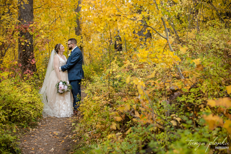 Emily & Cody, outdoor Waterton autumn wedding