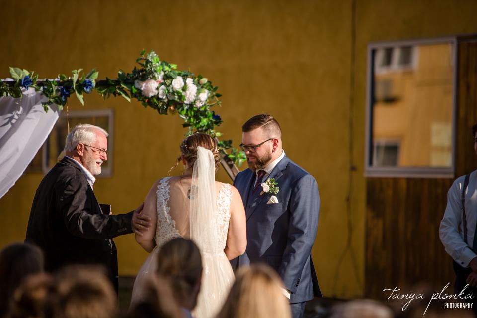Emily & Cody, Waterton Lakes Lodge wedding ceremony