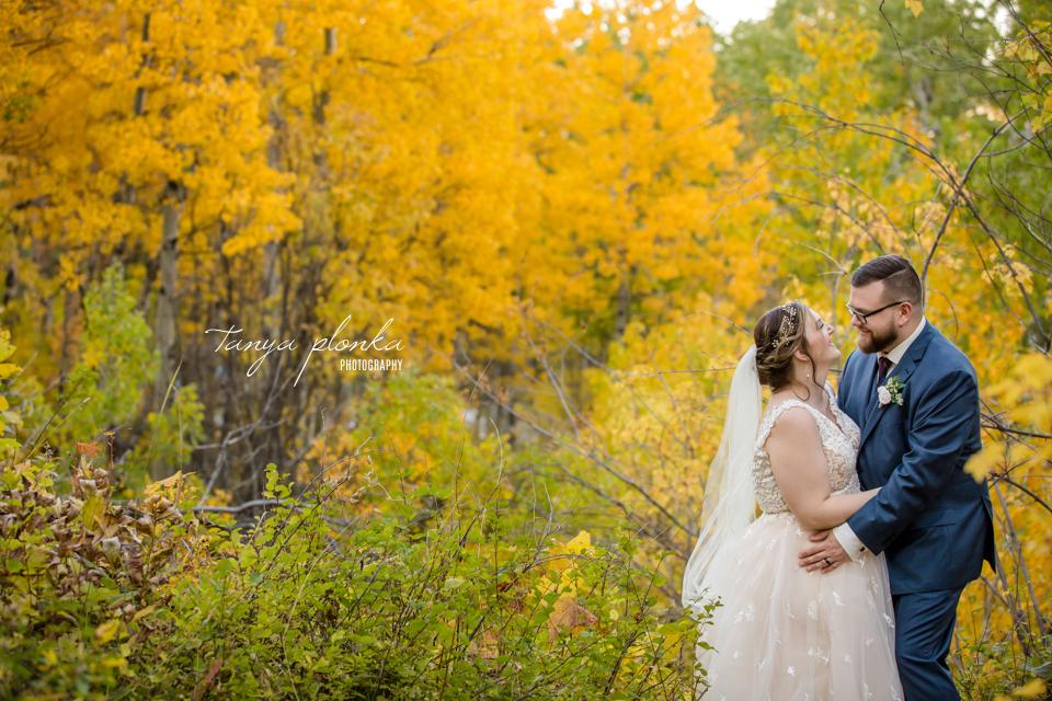 Emily & Cody, fall mountain wedding photos