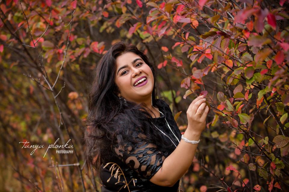 colourful autumn portrait session in Lethbridge