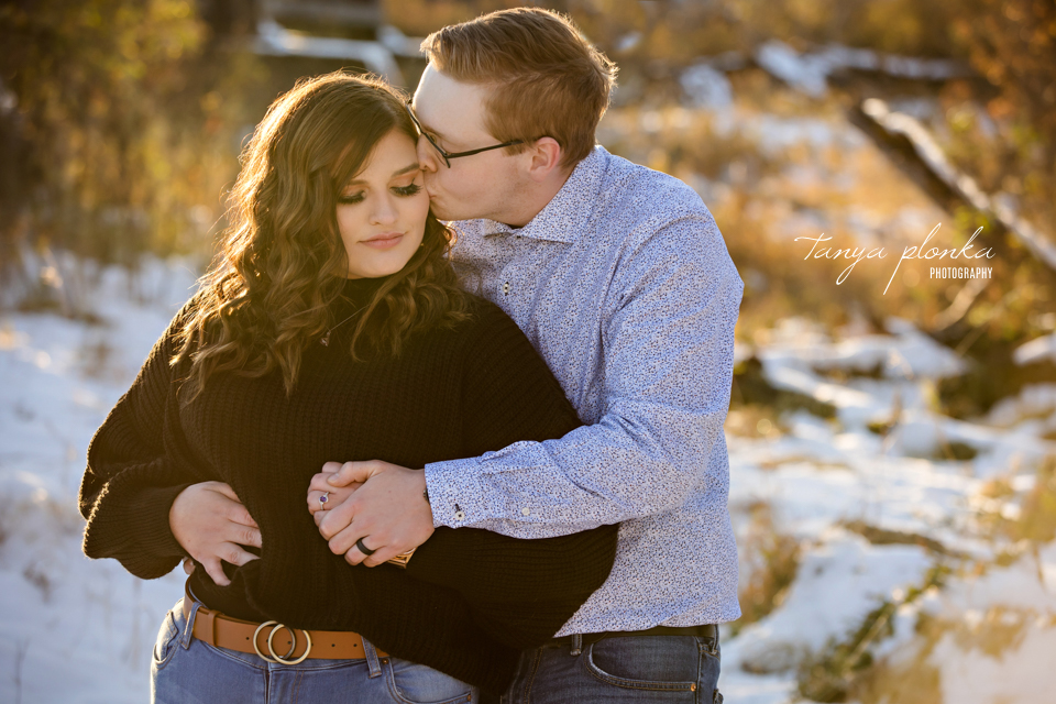 double proposal engagement photos in Lethbridge