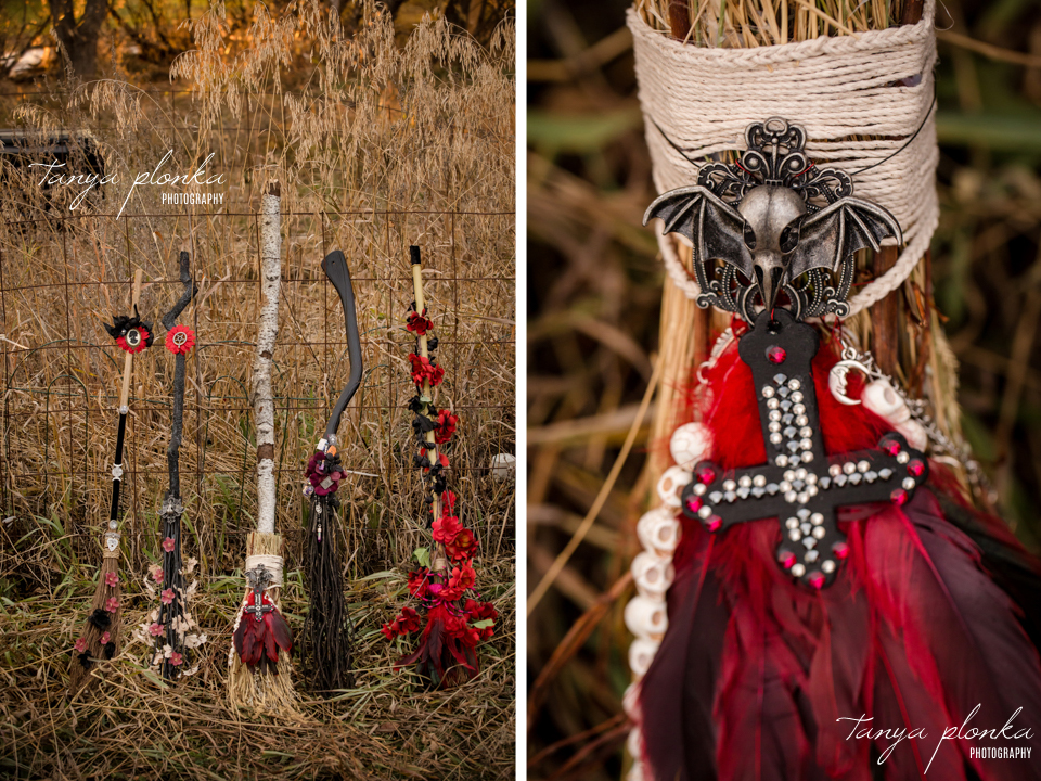 Jessica & Dustin, creative witch brooms