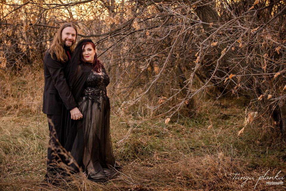 Jessica & Dustin, Lethbridge Halloween wedding photos