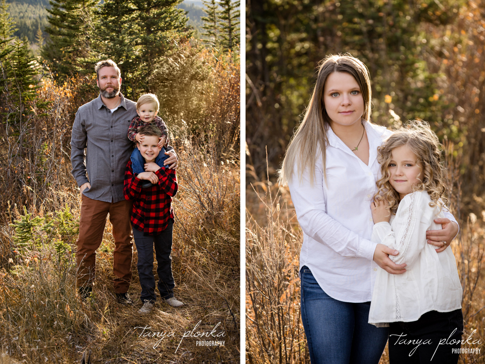 Willow Drive family photos in the Crowsnest Pass