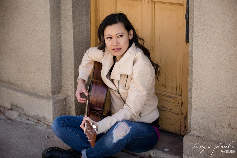 singer-songwriter promotional photos in Lethbridge