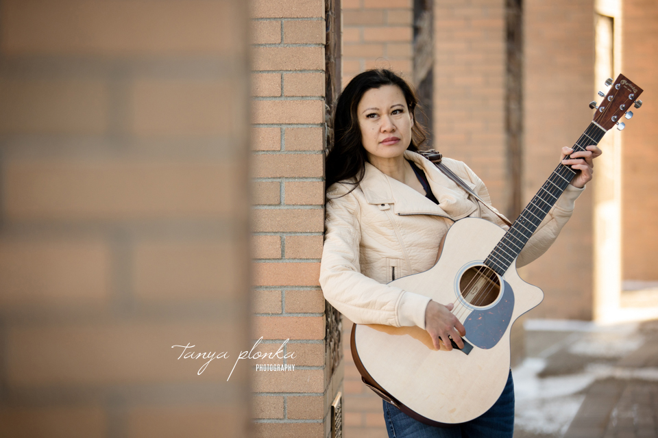 singer-songwriter promotional photos in Lethbridge