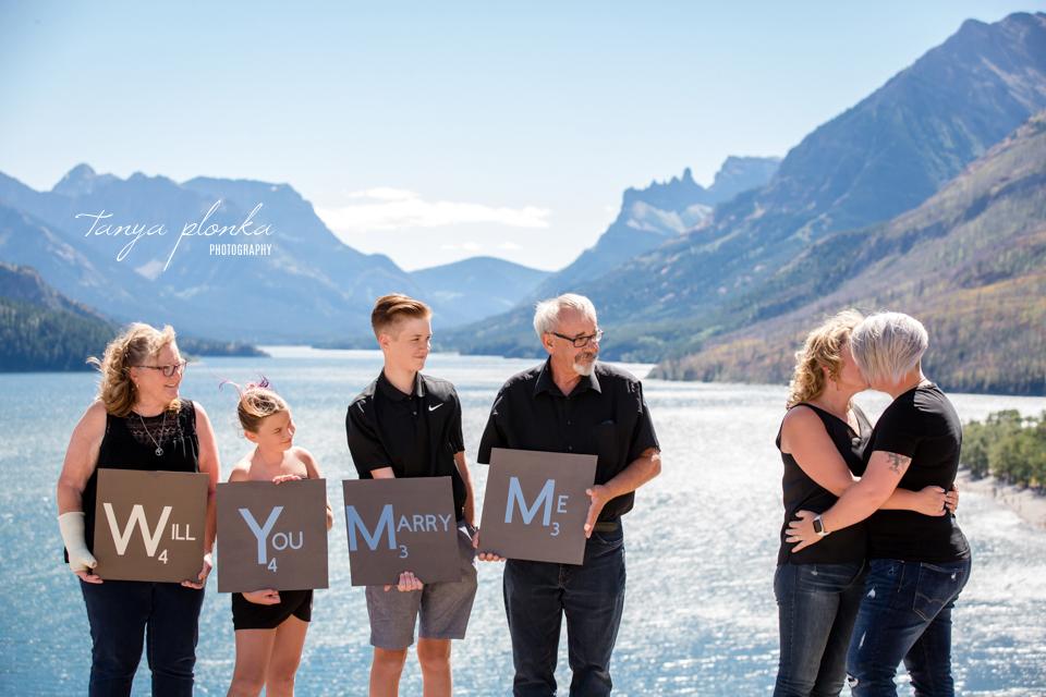 Waterton marriage proposal