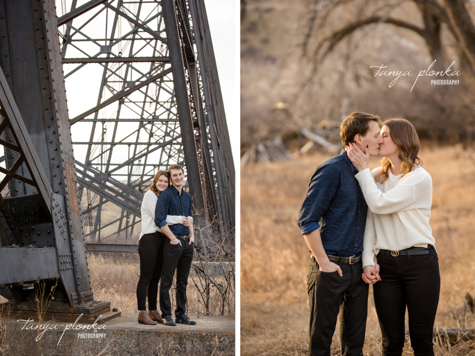 Lethbridge river bottom engagement session