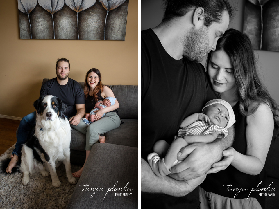 indoor baby photo session