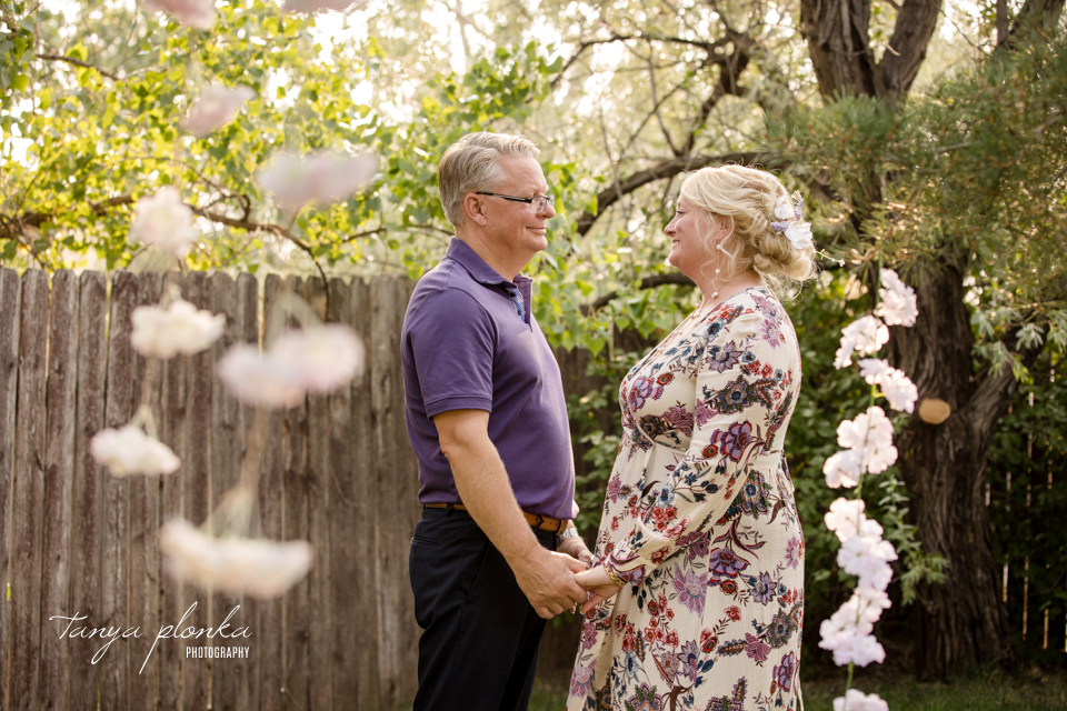 Cindy & Darrin, Lethbridge backyard wedding ceremony
