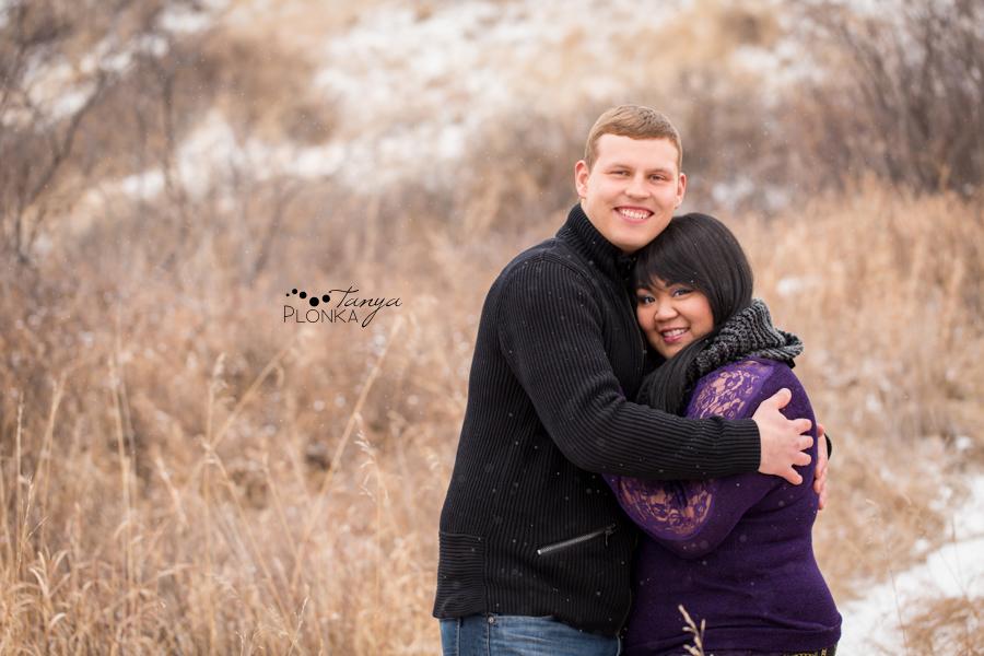 Winter Lethbridge engagement photos