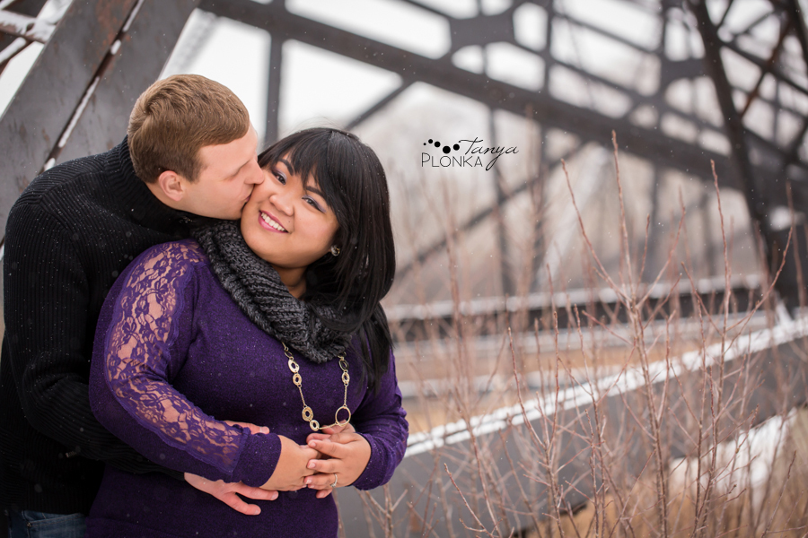 Snowy Lethbridge engagement photography