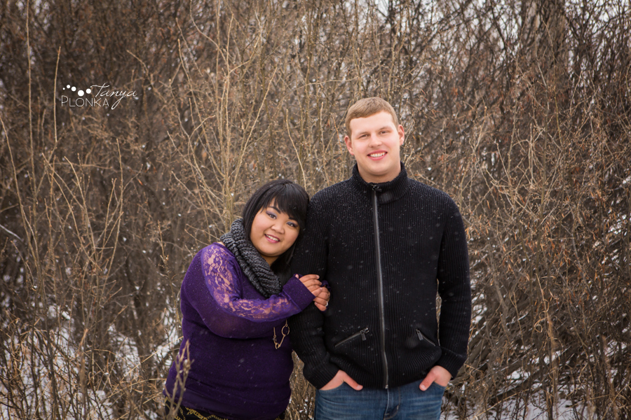 Snowy Lethbridge engagement photos