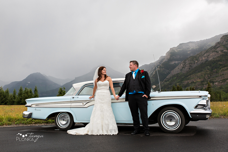 Romantic Bayshore Inn Wedding with vintage car