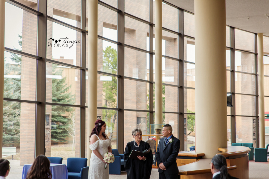 wedding ceremony at Lethbridge City Hall