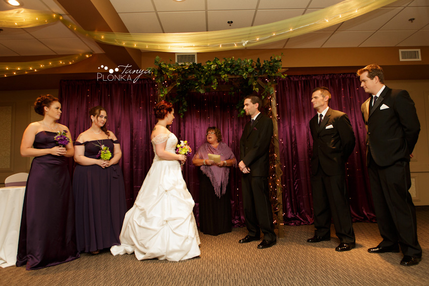 wedding ceremony at Lethbridge Coast Hotel