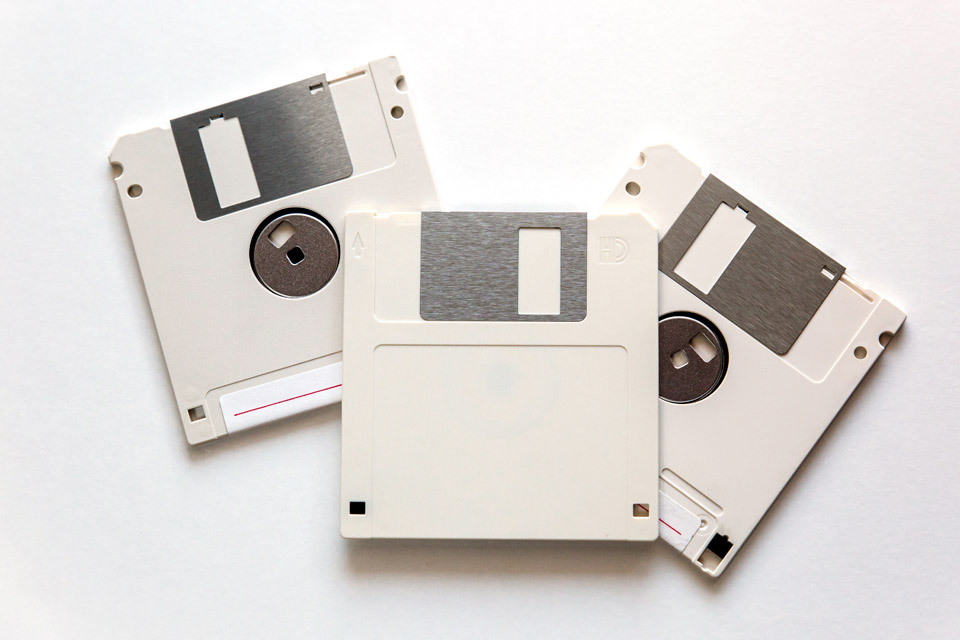 image of small floppy disks