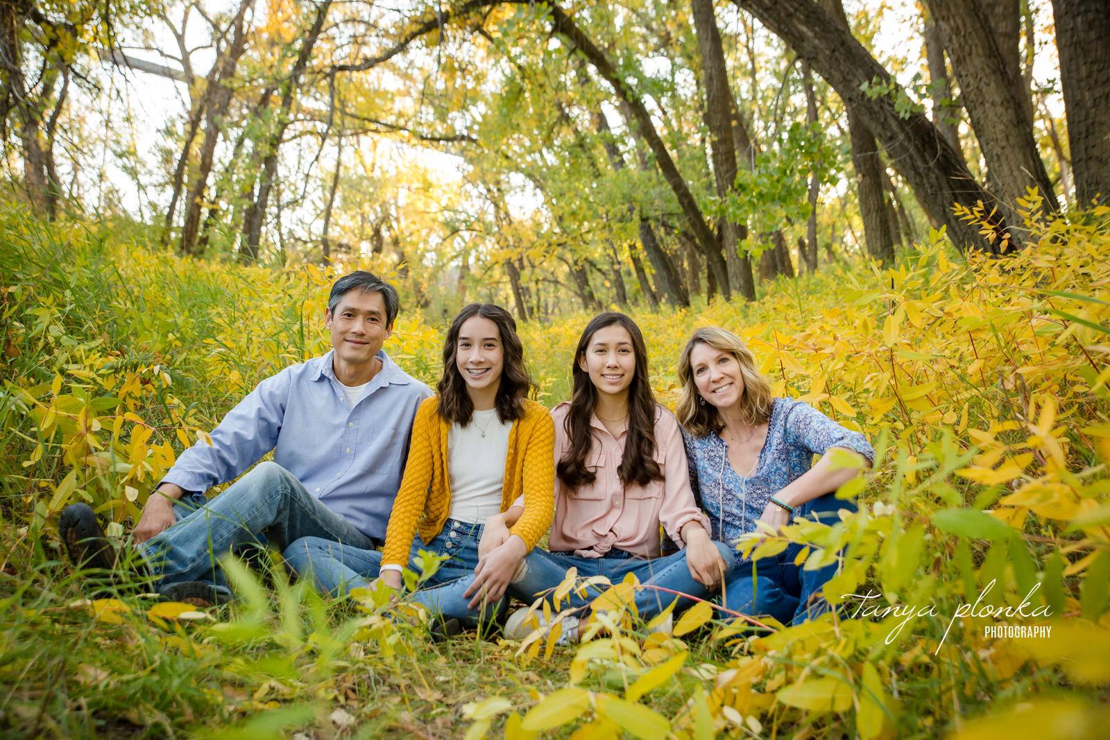 Helen Schuler Nature Reserve fall family photos