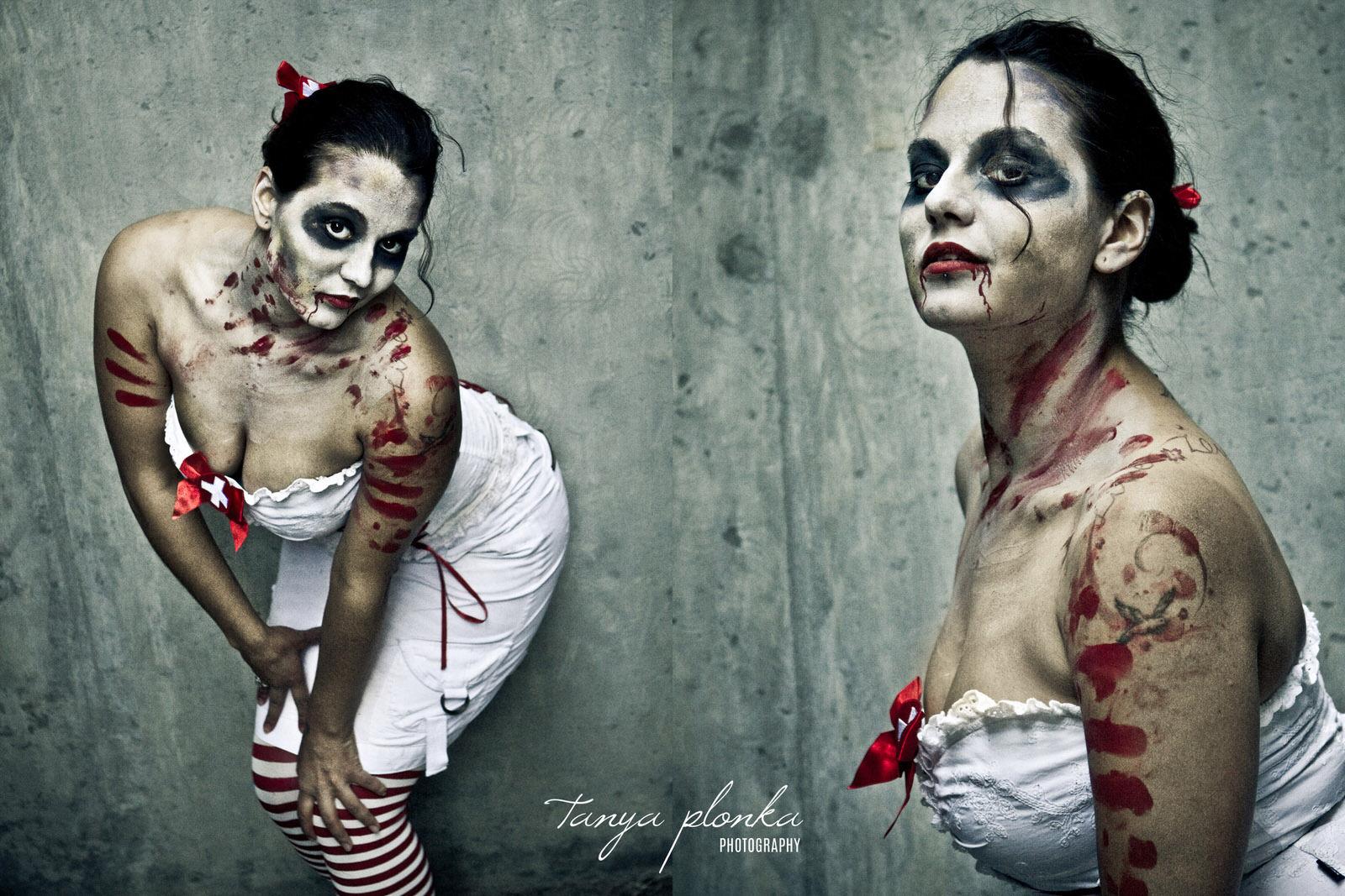 sexy nurse zombie pinup