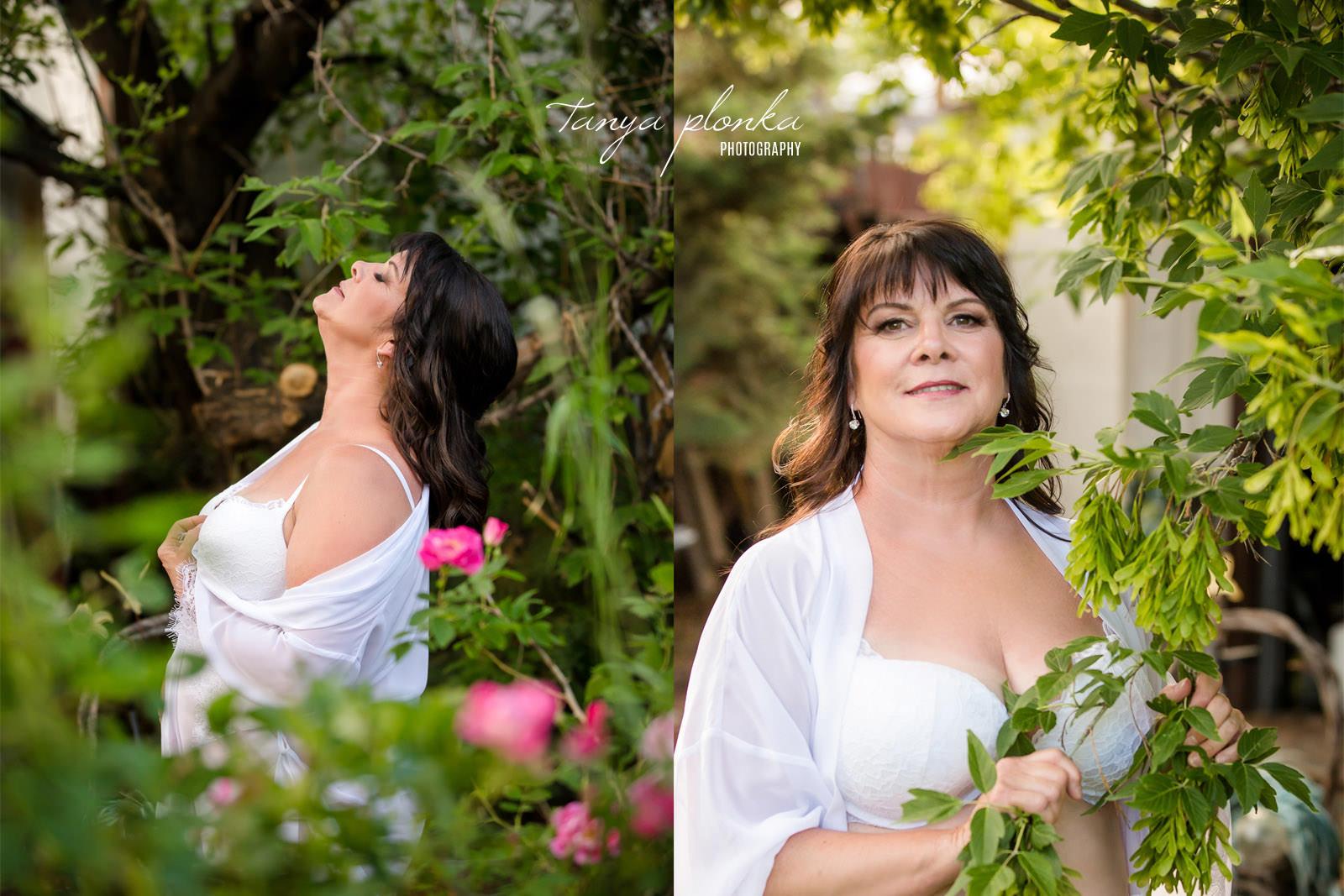 Outdoor Floral Boudoir Photos