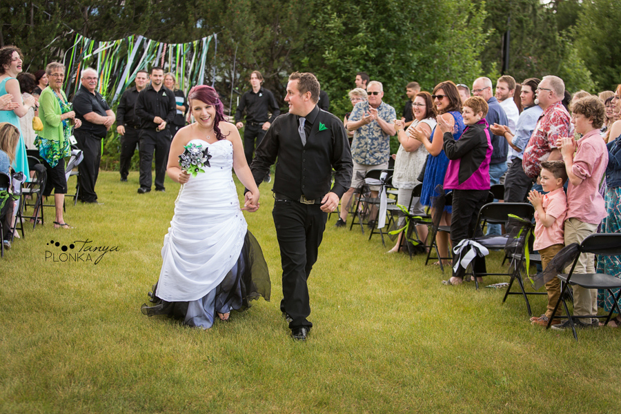 wedding ceremony at Pavan Park in Lethbridge