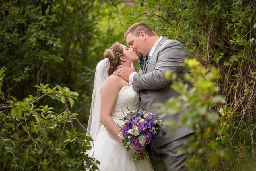 Jill & Shaun Crowsnest Pass backyard wedding