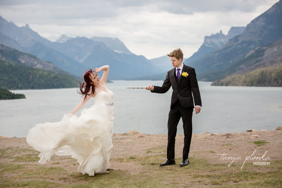 Kendal & Mike Harry Potter themed wedding in Waterton