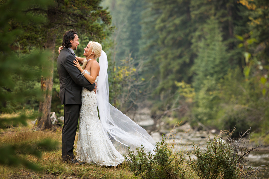 Stef & Freddie Crowsnest Pass summer wedding