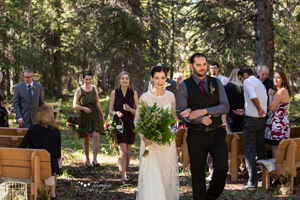 Romantic Crowsnest Pass Forest Wedding